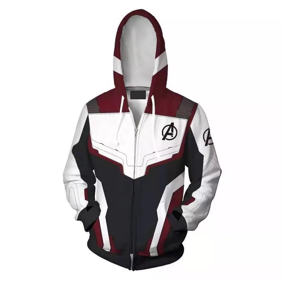 Superhero Iron Man Hoodies Suit Avengers 4 Endgame Quantum Realm Sweatshirt Jacket Captain Marvel Advanced Tech Cosplay Costumes hoodie