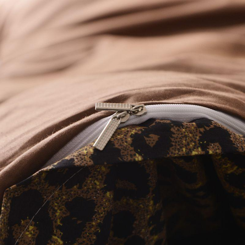 Image 5 - Brown leopard 100%Cotton Twin Bedding Set Queen King size Bed set  Duvet Cover Bed sheet Fitted sheet ropa de cama parure de litBedding  Sets