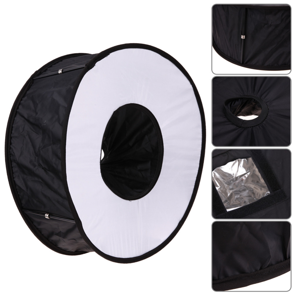 45 cm anillo Softbox Flash estilo redondo luz de Flash disparar suave plegable caja de