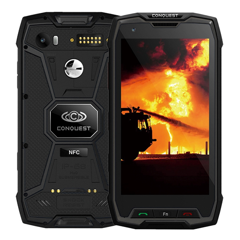 Conquest S9 128GB ROM Rugged Mobile MTK6757 Octa Core 5.5 Android 7.1 Smartphone 6GB RAM IP68 Waterproof Phone 6000mAh 4G NFC