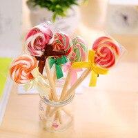50pcs/set Lollipop Ball Pen Kawaii Gift for Friend Korea Creative Stationery Gift Pen Lollipop Cute Student Stationery Wholesale