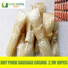 Dry pig sausage casing 27 meters total 10pc/bag Diameter 28mm-30mm sausage casing,Sausage cover,Sausage skin ,free shipping