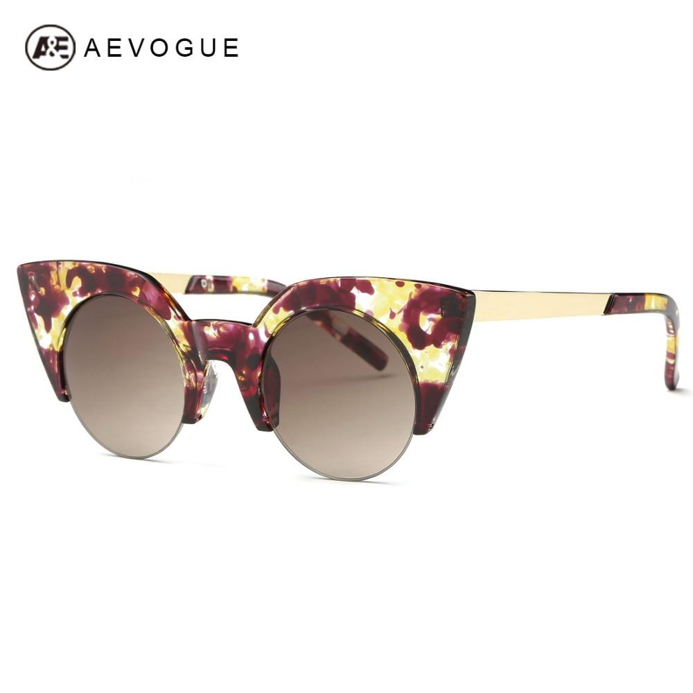 ①Aevogue Gafas de sol mujeres marca diseñador acetato ojo de gato ...