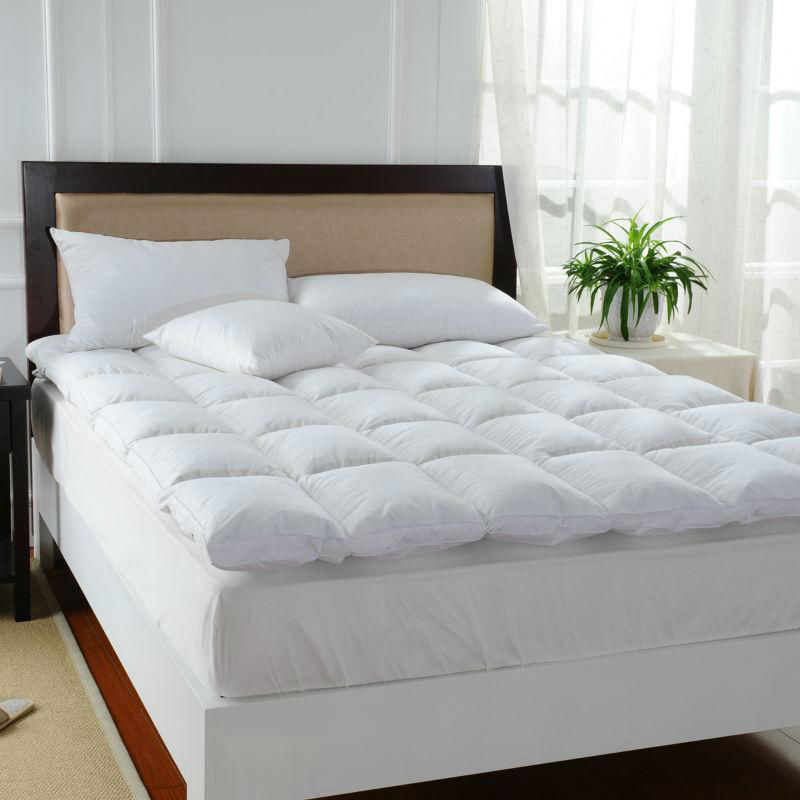 Peter Khanun White Duck Feather Bed Mattress 100 Cotton Shell 233TC Single Layer Mattress Five Stars