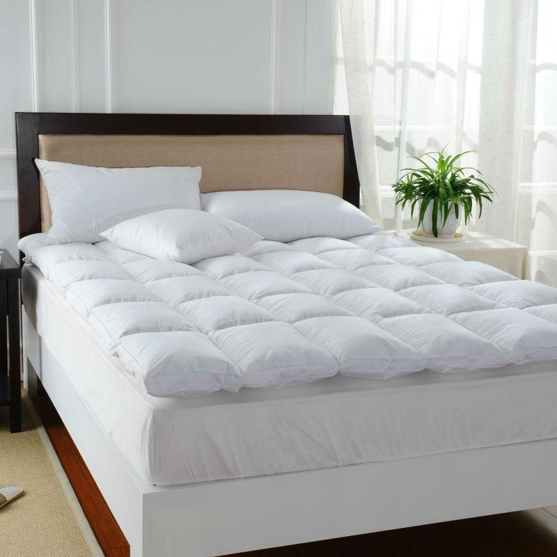 peter khanun blanc plume de canard lit matelas 100 coton shell 233tc unique couche matelas cinq. Black Bedroom Furniture Sets. Home Design Ideas
