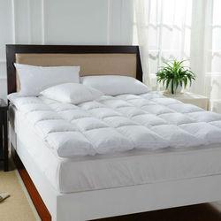 Peter khanun white duck feather bed mattress 100 cotton shell 233tc single layer mattress five stars.jpg 250x250
