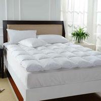 Peter Khanun White Duck Feather Bed Mattress 100% Cotton Shell 233TC Single Layer Mattress Five Stars Hotel Style 5cm Height 017