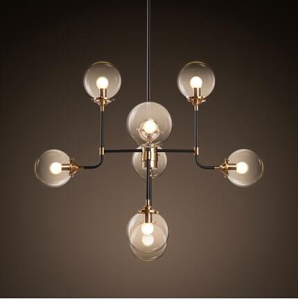 8 Lights Creative Glass Ball Led Pendant Lights Fixtures
