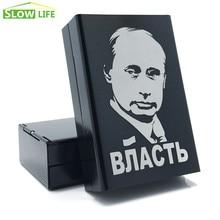 Putin Laser Engraving 20 Cigarette Case Novelty Metal Cigarette Box Smoking Accessories Cigarette St
