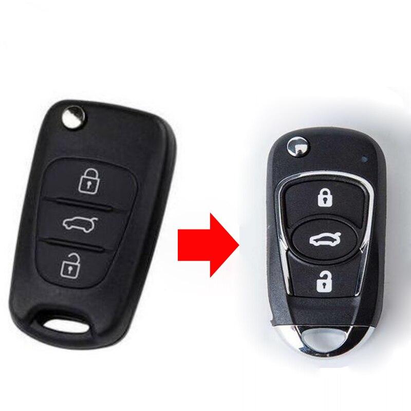 3 buttons Modified Flip Folding Remote Key Shell Case For Kia K2 K5 Sportage R Fob Key Cover|Car Key| |  - title=