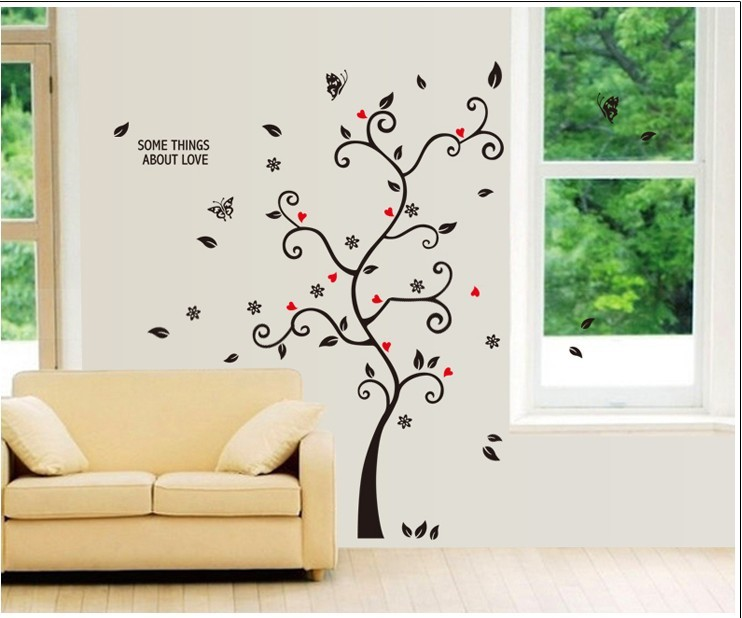 Tree Wall Stickers Home Decor Design Living Room Sofa Vintage Poster Wall Art