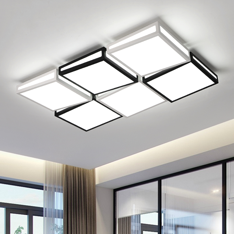 AC85~265V White/Black Ceiling Lamp For Bedroom Decor Lighting Fixtures Modern LED Ceiling Lights For Living Study Room luminar vemma acrylic minimalist modern led ceiling lamps kitchen bathroom bedroom balcony corridor lamp lighting study