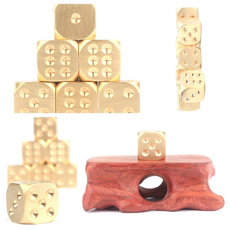 Solid Brass Enjoy Leisure Time/Holiday Party Game Entertainment Playing Dice Copper Alloy Club Bar Entertainment Accessories