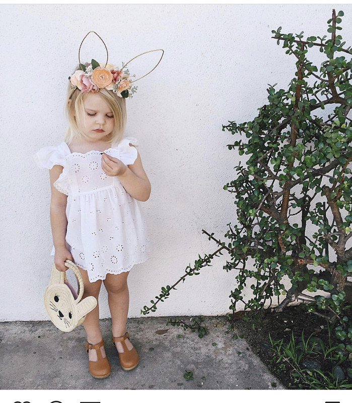 2018 cute kids hairbands with floral  girls flower rabbit ear hairband accessories for Party photo props free shipping 2013 new fashion lace big rabbit ear hairbands womens festival party props hair bands wholesale