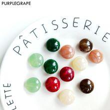 PURPLEGRAPE Fashion Vintage Acrylic Geometric Marble Pendant DIY Handmade Earrings Accessories Jewelry Beads 10 Pack