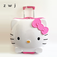 hello kitty princess style 19 inch cute cat children luggage trolley case 3d student suitcase cartoon travel trailer women girl