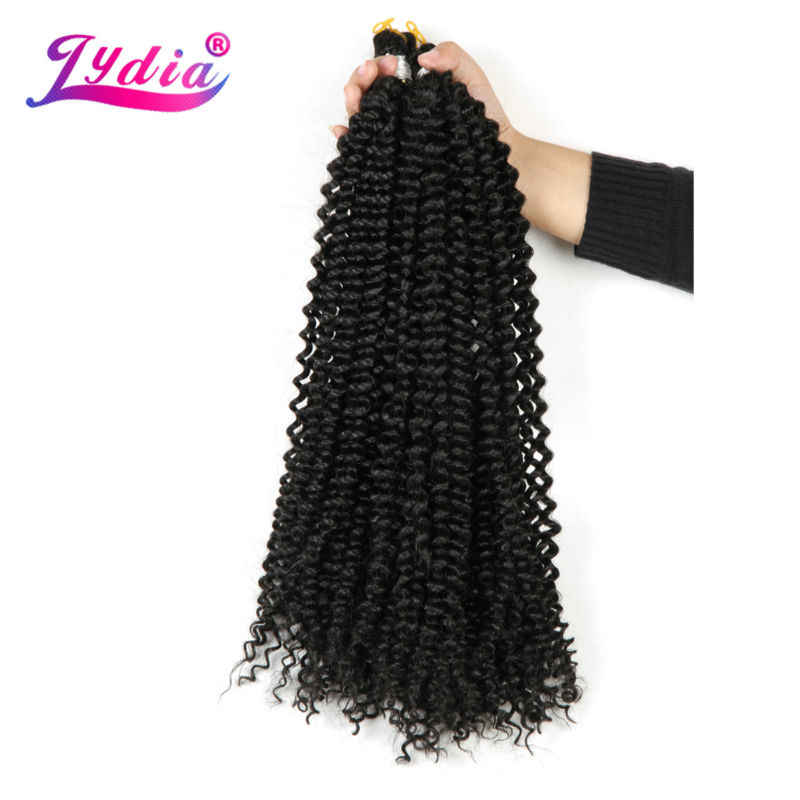 """Лидия богемные оплетки для наращивания волос Freetress, вязаные крючком косички для волос 14 """"1 шт чистый цвет Kanekalon оптом синтетические плетеные волосы афро кудрявый"""