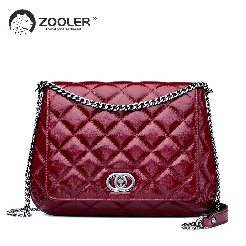 ZOOLER womens flap leather shoulder bag luxury genuine Cow Leather Handbag square striped chain Crossbody bag purse brand#wp301ZOOLER womens flap leather shoulder bag luxury genuine Cow Leather Handbag square striped chain Crossbody bag purse brand#wp301