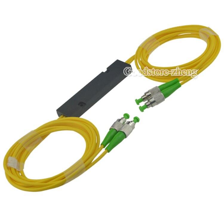 2x2 FC/APC Fiber Optic PLC Splitter Fiber splitters Fiber pigtails FBT splitters pengda 1 to 4 plc sc apc optical splitter green white