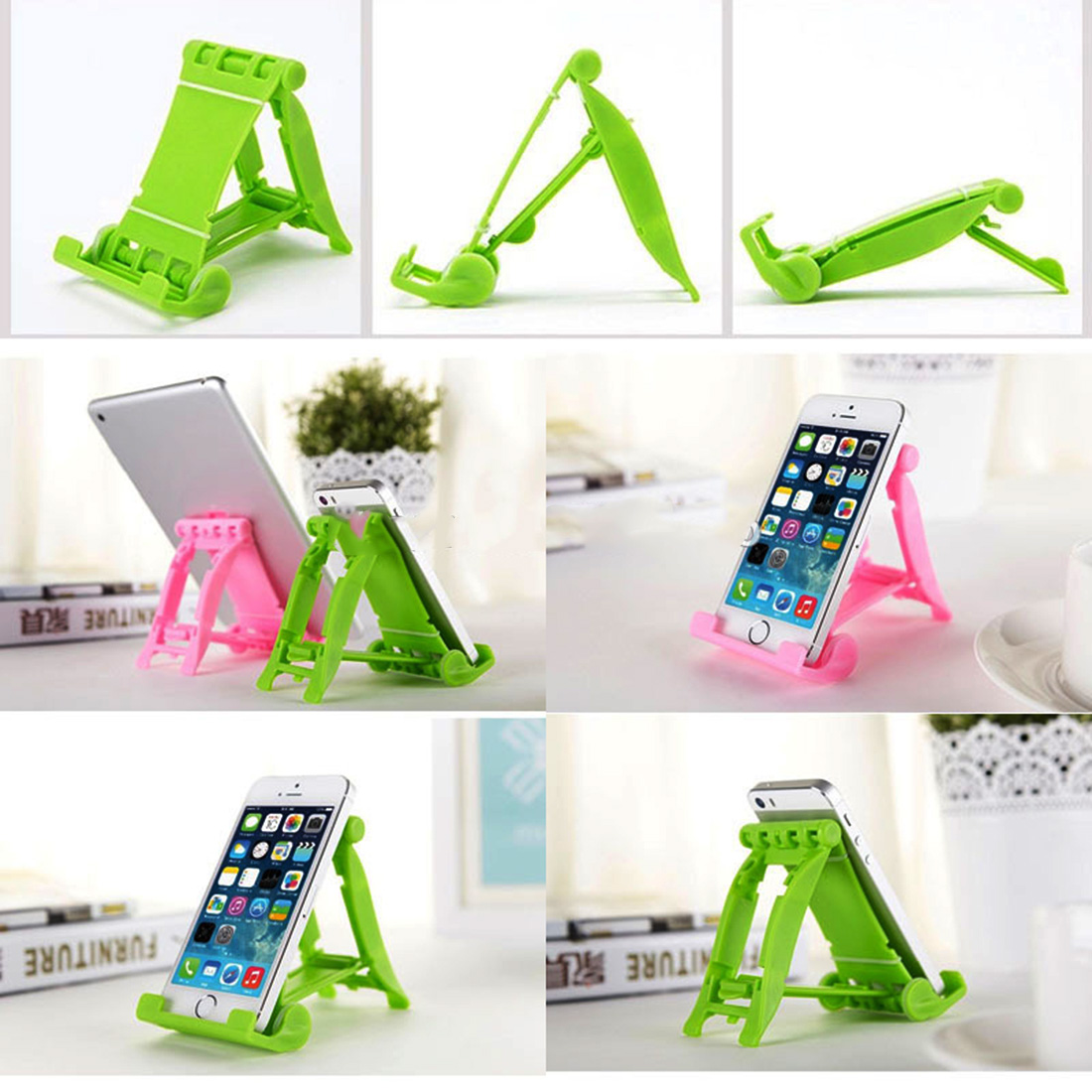 Etmakit Good Sale Diverse Colors Universal Portable Colorful Phone Holder Foldable Mobile Phone Stents Stand Multi-Colors