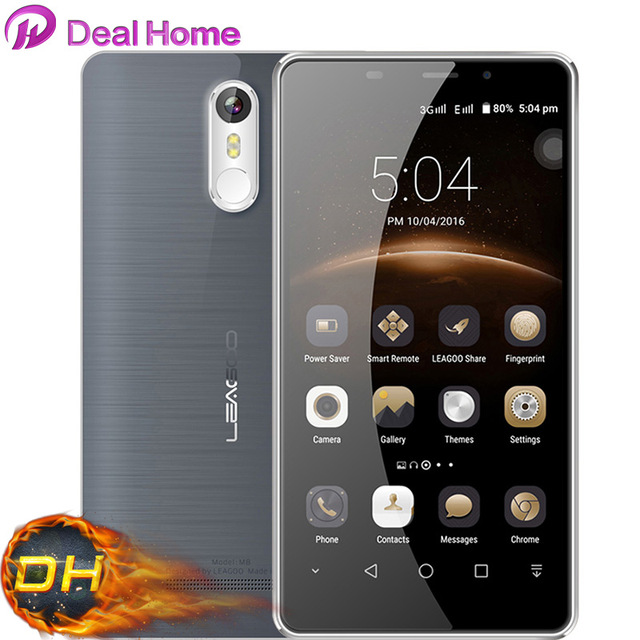 "Original Leagoo M8 5.7""HD Mobile Phone Android 6.0 2GB+16GB MT6580A Quad Core 13MP Fingerprint OTG 3500mah Smartphone"