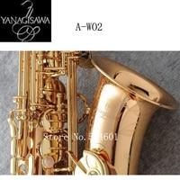 Gold Lacquer Eb Alto Saxophone Japan Yanagisawa A WO2 NEW Professional Sax Brass Instruments Music Alto