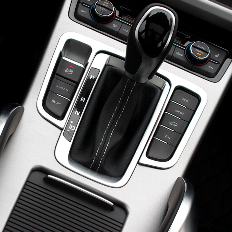 For <font><b>Geely</b></font> <font><b>Atlas</b></font> 2016 2017 2018 ABS Plastic Chrome Accessories Car Gear Shift Knob Frame Panel Cover Trim Car Styling image