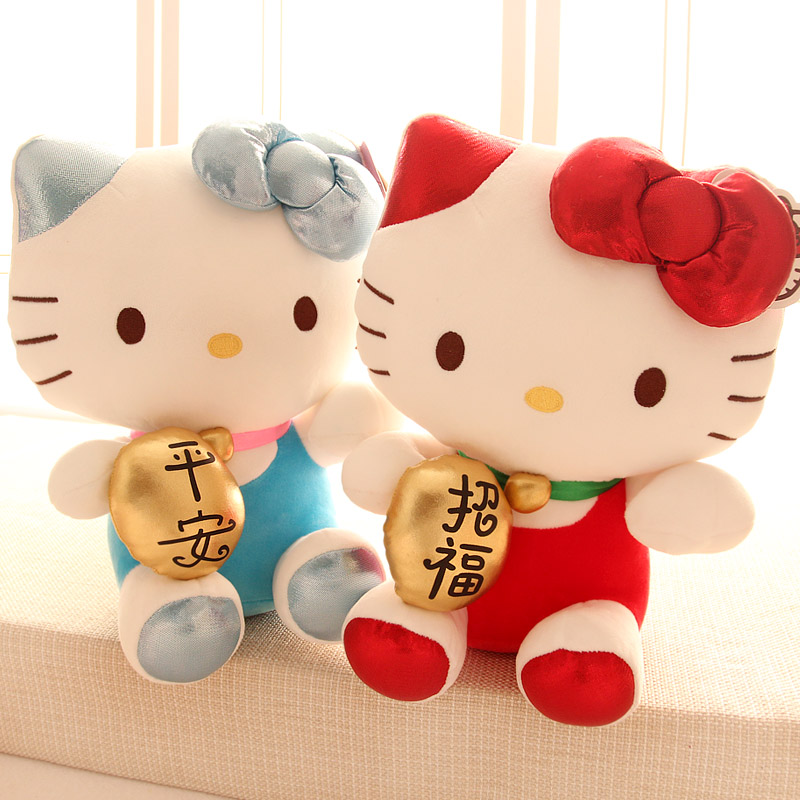 цены  Genuine Hello Kitty Lucky cat plush doll, Hello Kitty birthday gift Christmas gift pillow