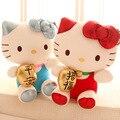 Genuino Hello Kitty gato afortunado peluche, Hello Kitty regalo navidad regalo de cumpleaños almohada