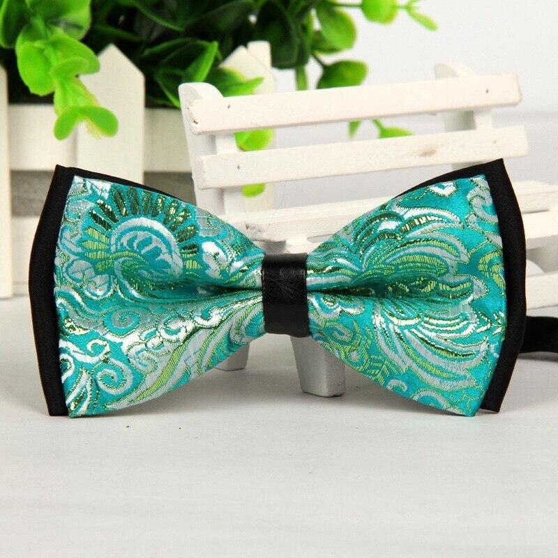 2016 New Men's Classic Bow Tie Green Jacquard Bowties Elegant Glamor Gravatas Borboleta 1pcs Lots