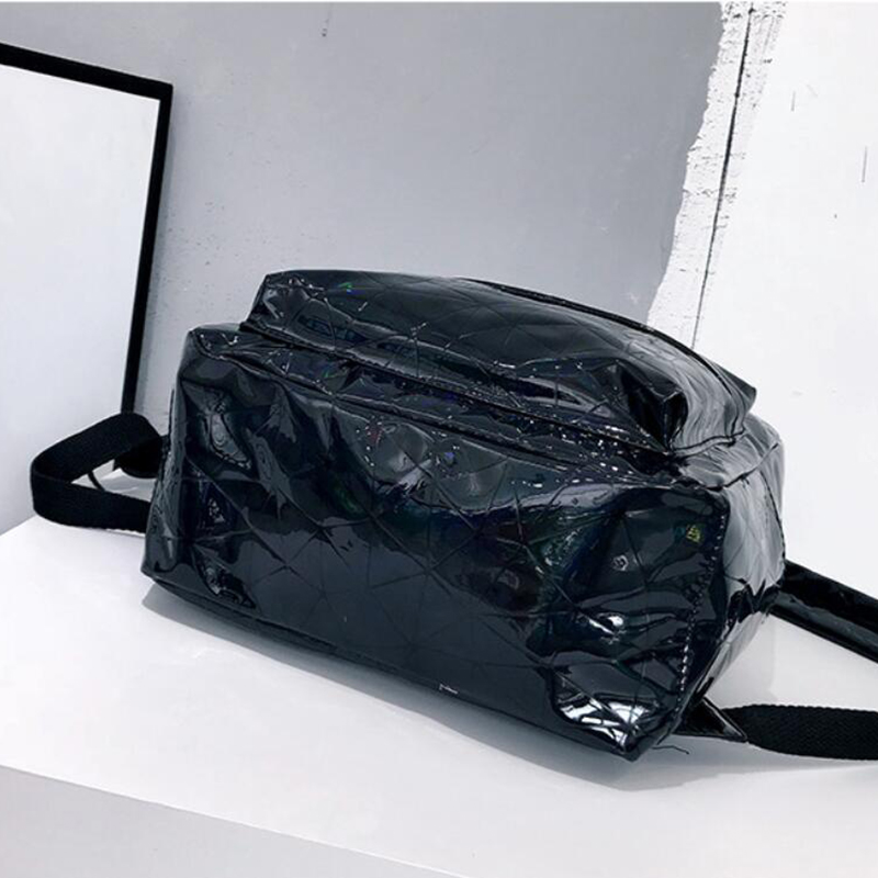 HTB1BYZ XcrrK1RjSspaq6AREXXap Large Travel Bags Laser Backpack Women Men Girls Bag PU Leather Holographic Backpack School Bags for Teenage Girls fashion bag