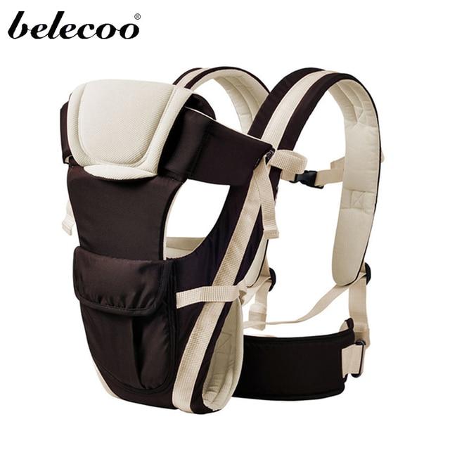 Belecoo 4 Цвета Кенгуру Wrap Слинг Фронтальная Кенгуру Дышащий Регулируемая Детские Рюкзак Для 2-30 Месяцев ребенка