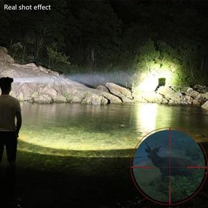 Image 5 - Kopf lampe led wiederaufladbare T40 Lampe perlen USB Mobile power funktion Outdoor Camping Jagd Cave abenteuer led scheinwerfer