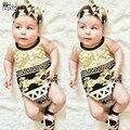 Menina roupa do bebê crianças boêmio cinta romper criança algodão top sem mangas casual elegante recém-nascidos macacão infantil clothing set
