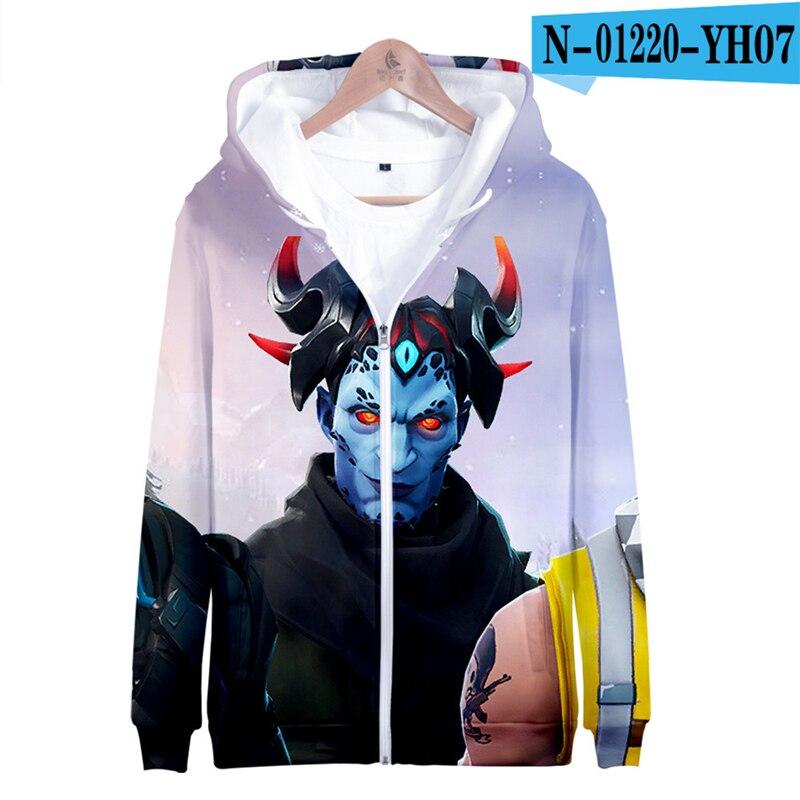 3D Hoodie Fortnight Zipper Boys Sweatshirt Children Popular Clothes Pullover Kid Clothings Women Clothes Men Streetwear Oversize