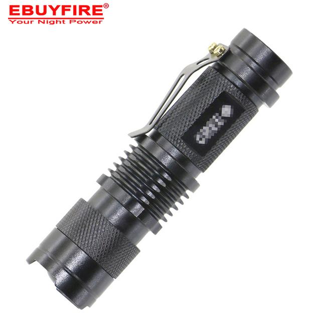 Mini Lampe-Torche 2000LM LED Torche AA 14500 LED flash lumière ZOOM 7 W Étanche 3 Modes LED mini Torche batterie lampe
