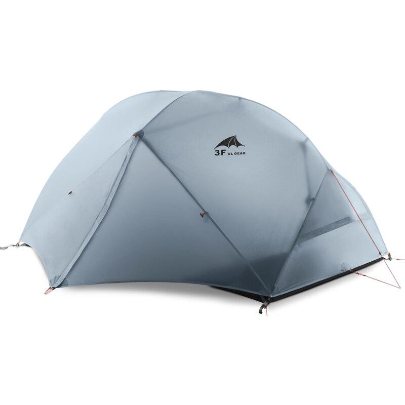 3F UL GEAR 2 personnes Camping tente 4 saison 15D avec tapis extérieur ultra-léger randonnée sac à dos imperméable tentes revêtement étanche