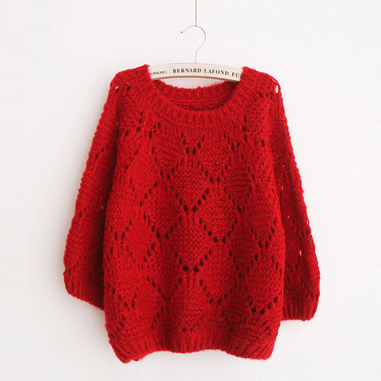 Fashion Womens Jumpers 2015 Autumn Cutout Loose Knitted Sweater ...
