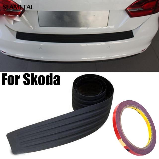 Newest For Skoda Octavia A7 A5 Fabia Superb B6 Yeti Rapid Car Styling Black Rubber Rear Guard Bumper Protector Trim cover