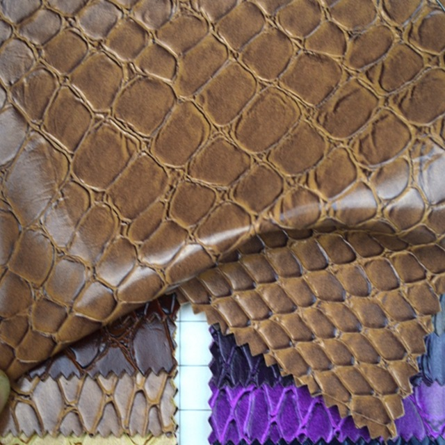 1 0mm Factory Wholesale Snakeskin Leather Fabric Faux Snake Skin