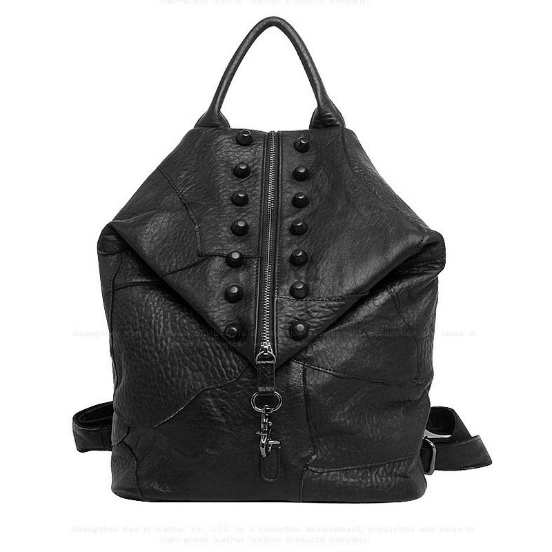 Women Backpack Genuine Leather Teenage Girl School Bag Casual Large Capacity Shoulder Bags Daily Ladies Travel Bag sendefn genuine leather backpack large capacity rivet black shoulder bag women casual backpack teenage girls school travel bags