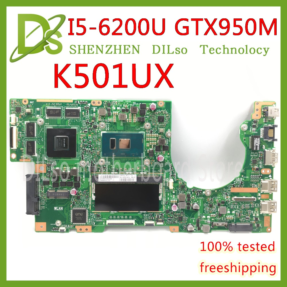 KEFU K501UX For ASUS K501UX K501UB K501U laptop motherboard K501UX mainboard rev2.0 i5-6200U cpu with GTX 950M Graphics card for asus k501ux k501ub laptop motherboard k501ux mainboard rev2 0 i5 cpu with graphics card 100