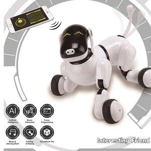Image 2 - I bambini Pet Robot Giocattolo Del Cane con la Danza Canto/Controllo di Riconoscimento vocale/Touch/APP di Programmazione Personalizzata Azioni