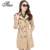 Tlzc moda cintura ajustável mulheres trench coats plus size m-4xl coreano primavera outono inverno preto/khaki lady longo outwear
