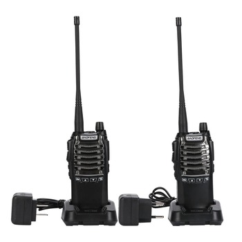 2PCS/LOT BaoFeng walkie talkie UV-8D Portable PTT radio CB radio Transceiver Battery 2800mAh UHF 400-470MHZ 2-Way Radio 16CH