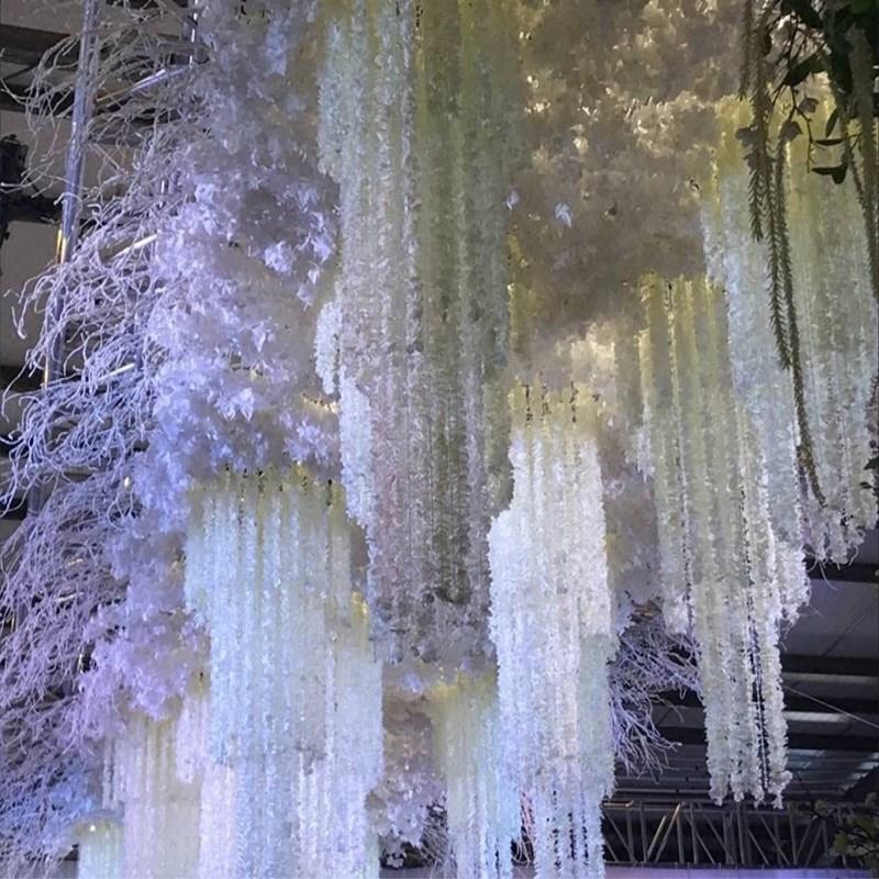 100 stks / partij Elegante Witte Orchidee Wisteria Wijnstokken 79 - Feestversiering en feestartikelen - Foto 6