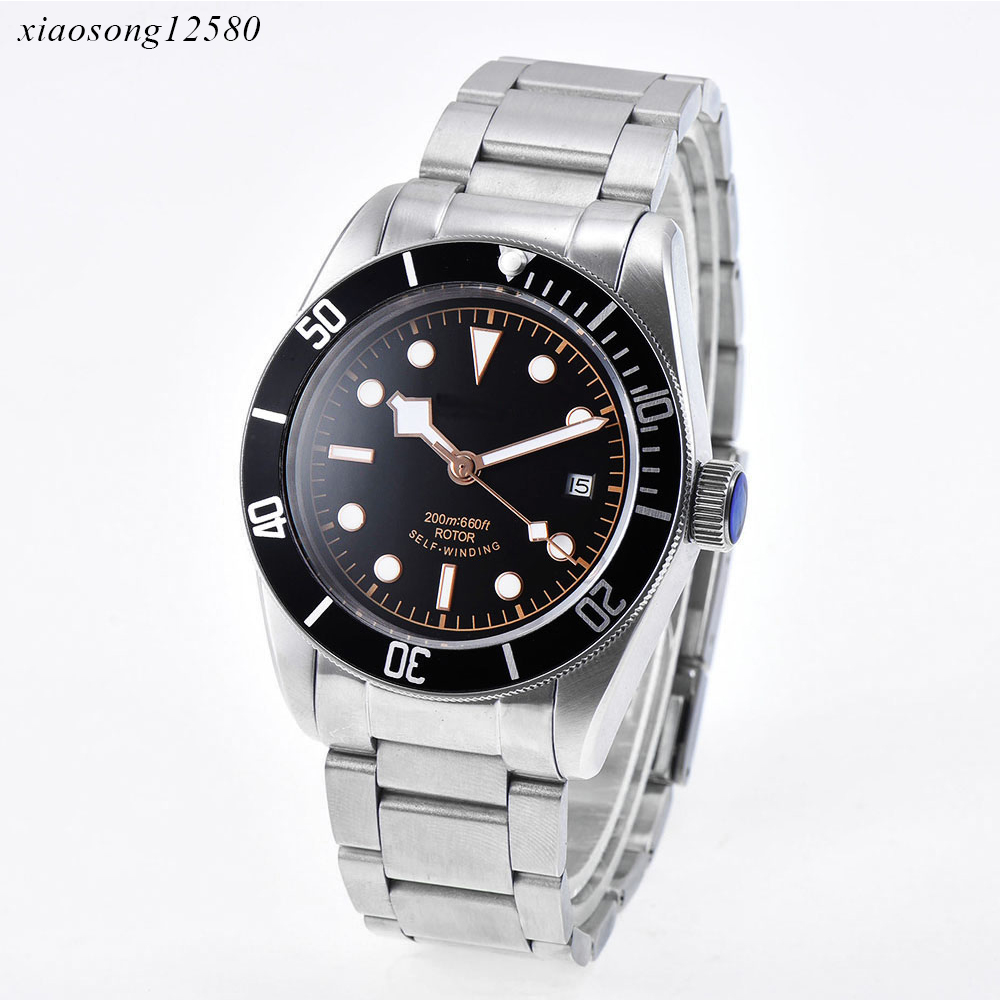 Image 2 - 2019 Corgeut Top Brand Men Mechanical Watch Automatic waterproof Fashion Luxury Stainless Steel Male Clock Relogio Masculino-in Mechanical Watches from Watches
