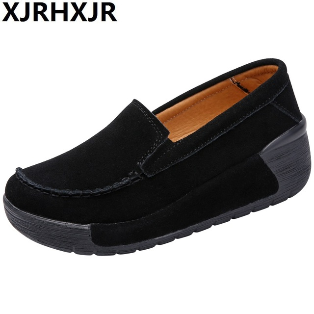 d1ca62744a6 Women Casual Shoes Lady Height Increasing Footwear Young Women Spring  Leisure Walking Shoe Comfortable Loafers