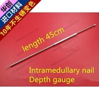 medical orthopedic instrument femur tibia humerus Remote PFNA Gamma Intramedullary nail Depth gauge Measuring rule finder tool