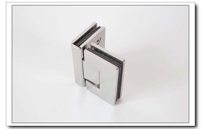 Frete grátis, 304 dobradiça do chuveiro de aço inoxidável, braçadeira de vidro de 90 graus, braçadeira de chuveiro, espelho terminado, fácil instalação, durável - 2